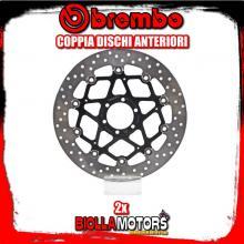 2-78B40870 COPPIA DISCHI FRENO ANTERIORE BREMBO BIMOTA YB 7 1989- 400CC FLOTTANTE