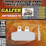 FD074G1370 PASTIGLIE FRENO GALFER SINTERIZZATE ANTERIORI GARELLI 125 GTA (3 FD) 87-