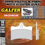 FD151G1054 PASTIGLIE FRENO GALFER ORGANICHE ANTERIORI CAGIVA SUPER CITY 80 92-