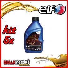 KIT 5X LITRO OLIO ELF MOTO 4 ROAD 15W50 SINTETICO - 5x 201731