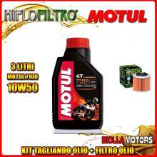 KIT TAGLIANDO 3LT OLIO MOTUL 7100 10W50 APRILIA 350 ETX 350CC 1985-1989 + FILTRO OLIO HF151