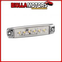 97023 LAMPA SET 20 PZ, LUCE INGOMBRO A 6 LED, MONTAGGIO IN SUPERFICIE, 12/24V - BIANCO