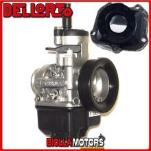 BR-61+03343 CARBURATORE DELLORTO PHBH 30 BS + COLLETTORE DRITTO ROTAX 122