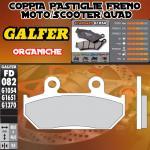 FD082G1054 PASTIGLIE FRENO GALFER ORGANICHE ANTERIORI KTM 125 RS 89-