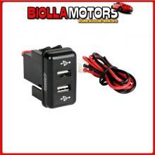 97966 LAMPA ORIGINAL-FIT, DOPPIA PRESA USB, 12/24V - VOLVO