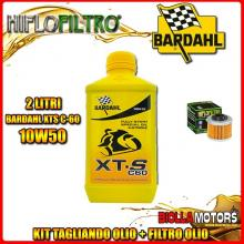 KIT TAGLIANDO 2LT OLIO BARDAHL XTS 10W50 APRILIA 125 Scarabeo Light 125CC 2007-2010 + FILTRO OLIO HF186