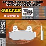 FD073G1054 PASTIGLIE FRENO GALFER ORGANICHE ANTERIORI PEUGEOT SPEEDFIGHT 3 LC 09-
