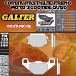 FD135G1054 PASTIGLIE FRENO GALFER ORGANICHE POSTERIORI CAGIVA W12 350 93-