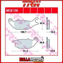 MCB738LC PASTIGLIE FRENO POSTERIORE TRW CF Moto 125 Papio 2017- [ORGANICA- LC]