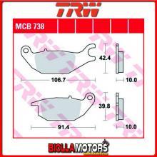 MCB738 PASTIGLIE FRENO POSTERIORE TRW CF Moto 125 Papio 2017- [ORGANICA- ]