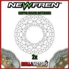 2-DF5168AF COPPIA DISCHI FRENO ANTERIORE NEWFREN YAMAHA FZ6 N 600cc 2004-2007 FLOTTANTE