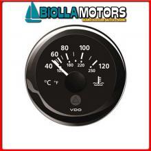 2300229 VOLTMETRO 8/16V VDO BLACK Strumentazione VDO View-Line