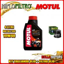 KIT TAGLIANDO 4LT OLIO MOTUL 7100 10W40 APRILIA RSV 1000 RSV4 R 1000CC 2009-2011 + FILTRO OLIO HF138