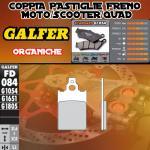 FD084G1054 PASTIGLIE FRENO GALFER ORGANICHE ANTERIORI GARELLI 80 SAHEL 89-