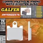 FD222G1380 PASTIGLIE FRENO GALFER SINTERIZZATE ANTERIORI SUZUKI CJ 250 SKY WAVE / Type S 03-