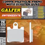 FD222G1380 PASTIGLIE FRENO GALFER SINTERIZZATE ANTERIORI KAWASAKI EPSILON 250 03-