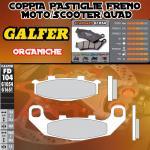 FD104G1054 PASTIGLIE FRENO GALFER ORGANICHE POSTERIORI KAWASAKI ZZR 250 (EX 250 H1) 90-97