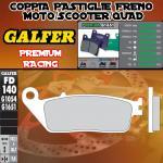 FD140G1651 PASTIGLIE FRENO GALFER PREMIUM ANTERIORI PEUGEOT SATELIS 500 ABS PBS 07-