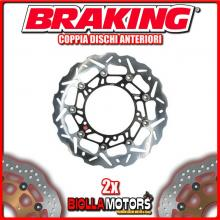WK120L+WK121R COPPIA DISCHI FRENO ANTERIORE DX + SX BRAKING KTM LC8 ADVENTURE ABS 990cc 2006-2012 WAVE FLOTTANTE