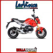 3396E SILENZIATORE COMPLETO 1/1 LEOVINCE HONDA MSX 125 / GROM 2020- 125CC GP CORSA EVO CARBONIO