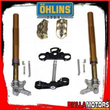 FGAG1300/P FORCELLA OHLINS YAMAHA T-MAX 530 2012-14 R&T 43 + PIASTRE + PINZE