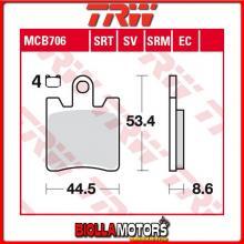 MCB706 PASTIGLIE FRENO ANTERIORE TRW Daelim QL 125 Steezer i.e, S.i.e.ABS 2015- [ORGANICA- ]