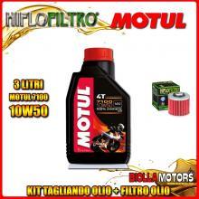 KIT TAGLIANDO 3LT OLIO MOTUL 7100 10W50 APRILIA 660 Pegaso Street / Trail / Factory 660CC 2005-2014 + FILTRO OLIO HF145
