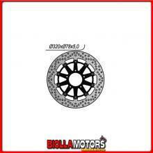 6591255 DISCO FRENO ANTERIORE DX-SX NG TRIUMPH Daytona IE (T502/T595) (Bibraccio) 955CC 2002/2006 1255