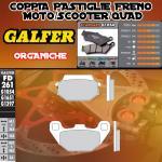 FD261G1054 PASTIGLIE FRENO GALFER ORGANICHE POSTERIORI SYM JOYRIDE 200i EVO 13-