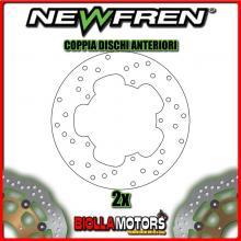 2-DF4042A COPPIA DISCHI FRENO ANTERIORE NEWFREN PIAGGIO X9 125cc EVOLUTION 2001-2007 FISSO