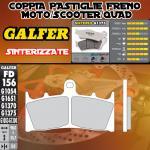 FD156G1375 PASTIGLIE FRENO GALFER SINTERIZZATE ANTERIORI KAWASAKI VN 1600 MEAN STREAK 04-04