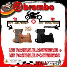 BRPADS-60204 KIT PASTIGLIE FRENO BREMBO MBK SKYLINER 2002- 125CC [XS+GENUINE] ANT + POST