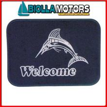 3311509 TAPPETINO WELCOME MARLIN GRIGIO/BLU< Tappetini Welcome
