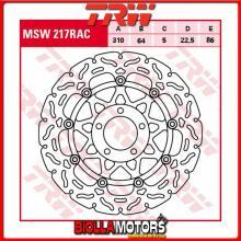MSW217RAC DISCO FRENO ANTERIORE TRW Suzuki GSXR 750 1988-1989 [FLOTTANTE - CON CONTOUR]