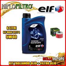KIT TAGLIANDO 6LT OLIO ELF MAXI CITY 5W40 HONDA TRX500 FE Fourtrax Foreman 4 x 4 ES 500CC 2005-2016 + FILTRO OLIO HF113
