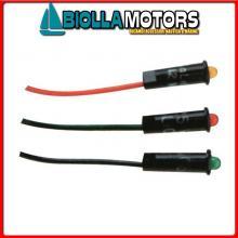 2105022 LED PANNELLO D4MM 12/24V GREEN Spie LED PL 12/24V