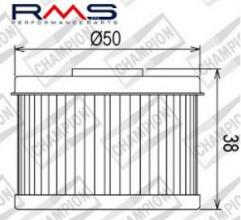 100609195 COF013 FILTRO OLIO HONDA TRX420 FPE Fourtrax Rancher 4x4 ES (servosterzo) 09-13 (X301 - X356)