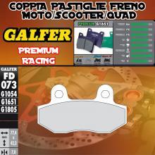 FD073G1651 PASTIGLIE FRENO GALFER PREMIUM POSTERIORI BLANEY XC 125 TROJAN 03-