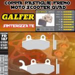FD187G1380 PASTIGLIE FRENO GALFER SINTERIZZATE ANTERIORI PEUGEOT SATELIS 125 K15 COMPRESOR (NISSIN) 07-