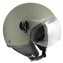 1WH-BSA-07C CASCO JET 1WH WOLLI VERDE GOMMATO TAGLIA M