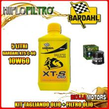 KIT TAGLIANDO 5LT OLIO BARDAHL XTS 10W60 TRIUMPH 955 Tiger 955CC 2005-2006 + FILTRO OLIO HF204