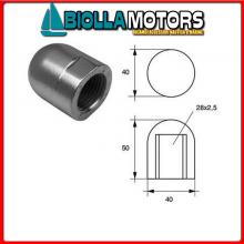 5163820 ANODO OGIVA FIL D20 Anodi Ogiva Threaded M
