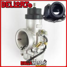 BR-54+09784 CARBURATORE DELLORTO VHSB 34 LD + COLLETTORE INCLINATO ROTAX 122