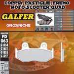 FD063G1054 PASTIGLIE FRENO GALFER ORGANICHE POSTERIORI HYOSUNG AQUILA 700 GV i 10-