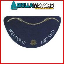 3311503 TAPPETINO WELCOME HALF MOON BLUE< Tappetini Welcome Aboard Half Moon