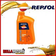 RP172L51 1 LITRO OLIO REPSOL MOTO FORK OIL 5W 1LT FORCELLA