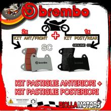 BRPADS-57652 KIT PASTIGLIE FRENO BREMBO CAGIVA X-RAPTOR 2003- 1000CC [SC+GENUINE] ANT + POST