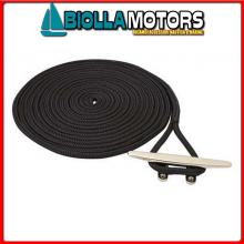 3101451 DOCK LINE BLACK 12MM X 6M< Treccia Mooring Nero con Gassa