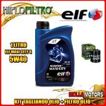 KIT TAGLIANDO 1LT OLIO ELF MAXI CITY 5W40 GILERA 125 DNA 125CC 2001-2003 + FILTRO OLIO HF183
