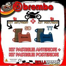 BRPADS-6469 KIT PASTIGLIE FRENO BREMBO CANNONDALE MX 2000- 400CC [SD+TT] ANT + POST